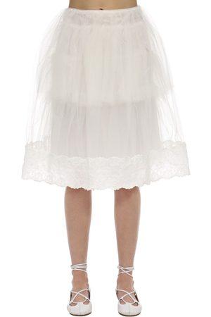 Simone Rocha Tulle & Lace Midi Skirt
