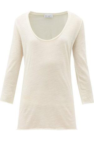Raey Scoop-neck Wool-jersey T-shirt - Womens
