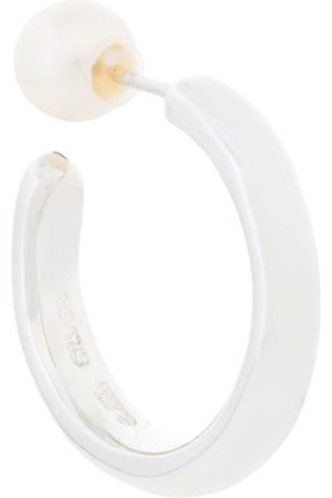 E.M. Women Earrings - Single hoop earring - Metallic