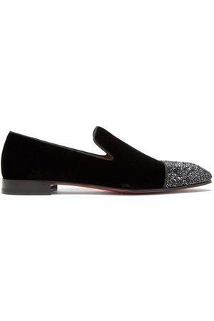 Christian Louboutin Dandelion Crystal-embellished Velvet Loafers - Mens
