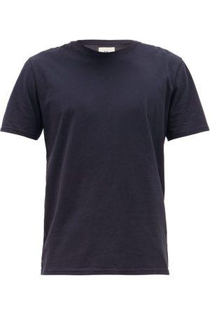 Folk Assembly Logo-patch Cotton T-shirt - Mens - Navy