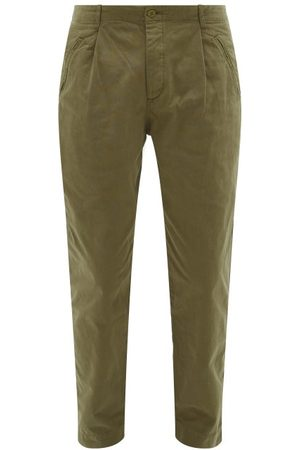 Folk Assembly Cotton-canvas Trousers - Mens - Khaki