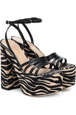 Gianvito Rossi Ursula 150 leather platform sandals