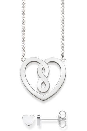 Thomas Sabo Women Silver Jewellery Set SET0359-494-11-L18