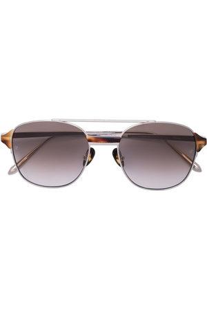 Linda Farrow Reed square-frame sunglasses - Metallic