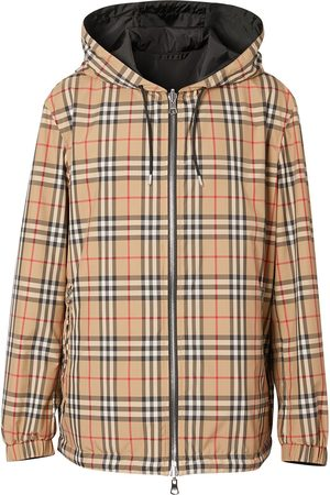 Burberry Men Jackets - Reversible Vintage Check jacket - NEUTRALS