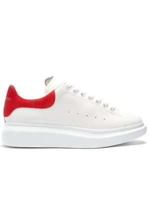 Alexander McQueen Raised-sole Low-top Leather Trainers - Mens - Multi