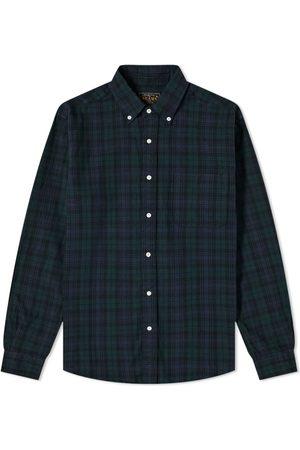 Beams Button Down Black Watch Shirt