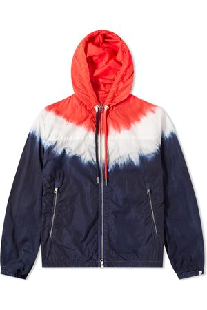 Moncler Men Ties - Tricolour Tie Dye Zip Windbreaker