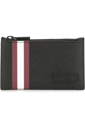 Bally Embossed logo zipped pouch