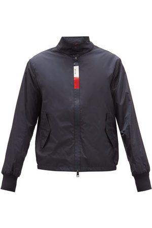 Moncler Tricolour-zip Shell Windbreaker Jacket - Mens - Navy