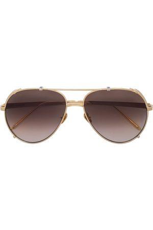Linda Farrow Newman aviator-frame sunglasses