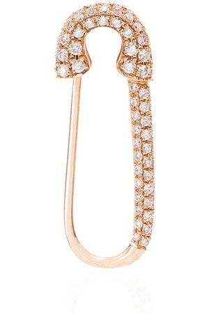 Anita 18kt rose safety pin diamond earring