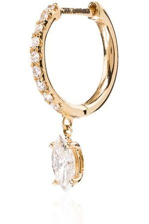 Anita 18kt diamond hoop earring
