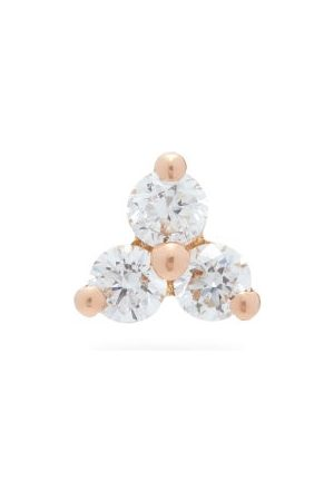 Maria Tash Trinity Diamond & 18kt Rose- Single Earring - Womens - Rose