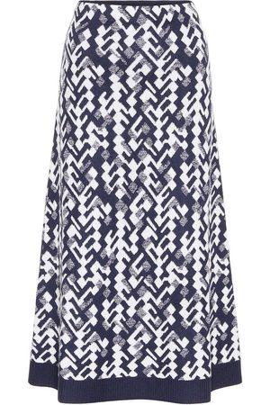 Prada Wool-blend jacquard midi skirt
