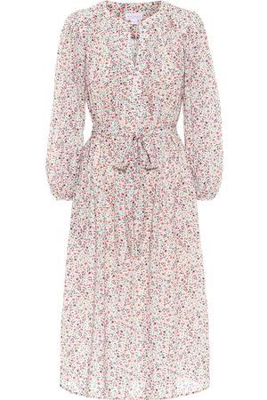Velvet Beau floral cotton-blend midi dress