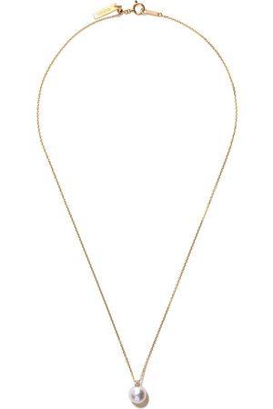 Tasaki Women Necklaces - 18kt yellow Akoya pearl and diamond pendant