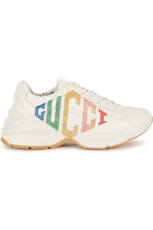 Gucci Rython Logo-print Leather Sneakers