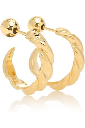 Sophie Buhai Small Rope 18kt vermeil hoop earrings