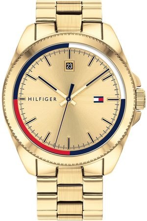 Tommy Hilfiger Riley Gold Plated Stainless Steel Gold Sunray Dial Mens Watch