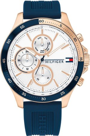 Tommy Hilfiger Blue Silicone Strap White Sunray Dial Mens Watch