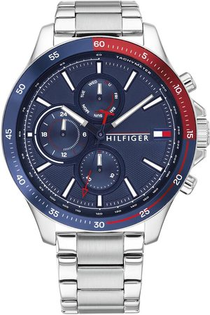 Tommy Hilfiger Bank Stainless Steel Bracelet Navy Sunray Dial Watch