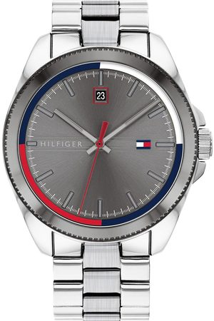 Tommy Hilfiger Riley Stainless Steel Bracelet Grey Sunray Dial Mens Watch