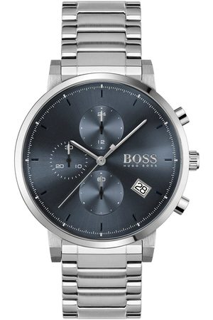HUGO BOSS Intergrity Stainless Steel Bracelet Blue Dial Chronograph Watch