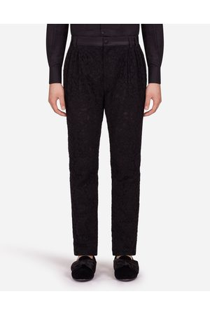 Dolce & Gabbana Men Trousers - Trousers and Shorts - PANTS IN CORDONNET LACE