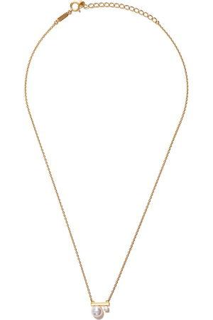 Tasaki Women Necklaces - 18kt yellow gold petit Balance Class Akoya pearl and diamond pendant - Metallic