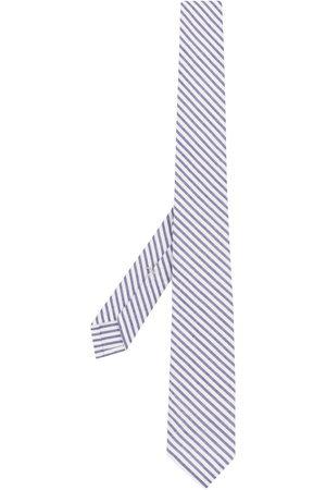 Thom Browne Men Bow Ties - Striped seersucker tie