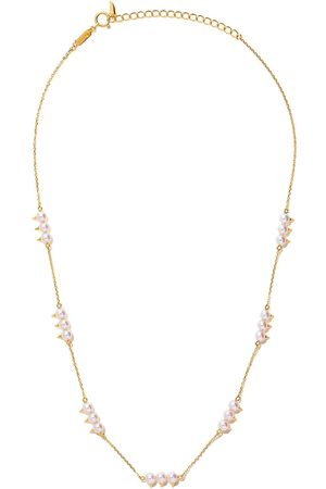 Tasaki Women Necklaces - 18kt yellow gold Danger Collection Line Akoya pearl necklace - Metallic