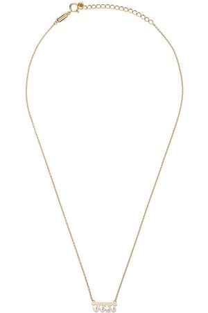 Tasaki 18kt yellow gold petit Balance Solo Akoya pearl and diamond pendant - Metallic
