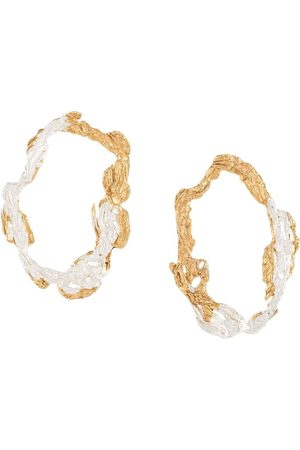 LOVENESS LEE Women Earrings - Dzovag hammered hoop earrings