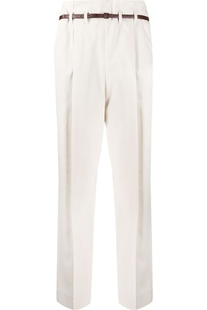 Brunello Cucinelli Belted tailored trousers - Neutrals
