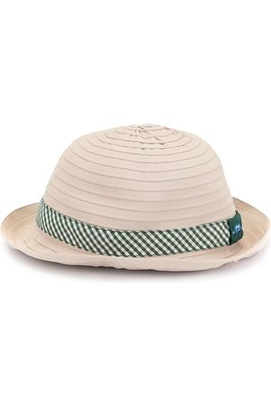 Familiar Gingham-print sunhat
