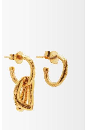 Alighieri Men Earrings - The Dark Wood 24kt -plated Earrings - Mens
