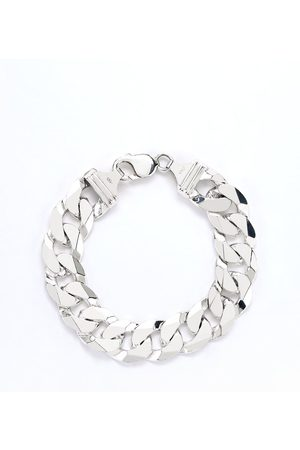 The Love Silver Collection Mens Sterling 9 Inch 2 Oz Curb Chain Bracelet