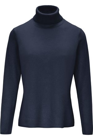 include Women Jumpers - Roll-neck jumper in pure new wool and cashmere size: 10