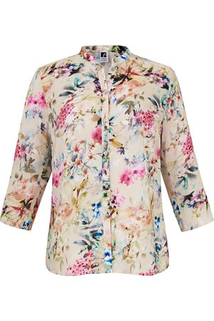 Anna Aura Blouse 3/4-length turn-up sleeves multicoloured size: 16