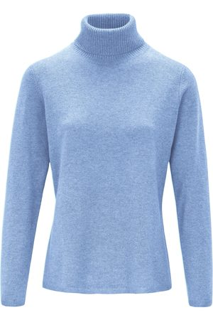 include Women Jumpers - Roll-neck jumper in pure new wool and cashmere size: 20