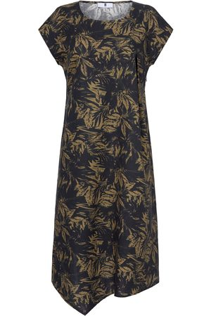 Anna Aura Dress in 100% linen multicoloured size: 28