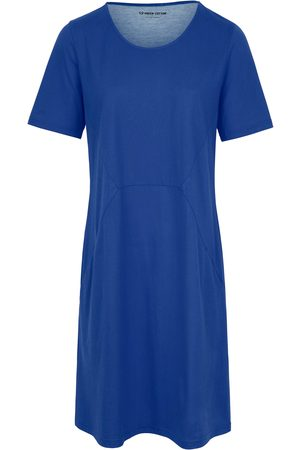 Green Cotton Women Casual Dresses - Jersey dress 1/2-length sleeves size: 22