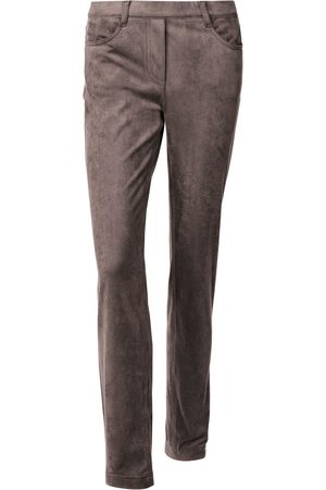 Peter Hahn Slip-on trousers in suede look size: 10s
