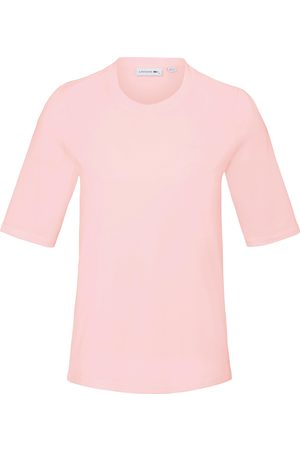 Lacoste Round neck top longer 1/2-length sleeves pale size: 10