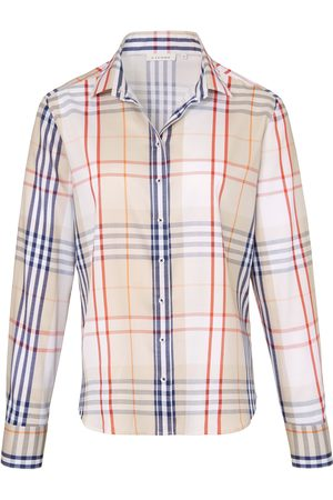 ETERNA Checked blouse in 100% cotton multicoloured size: 22