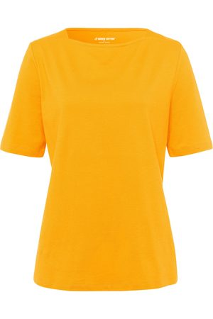 Green Cotton T-shirt in 100% cotton boat neck size: 14