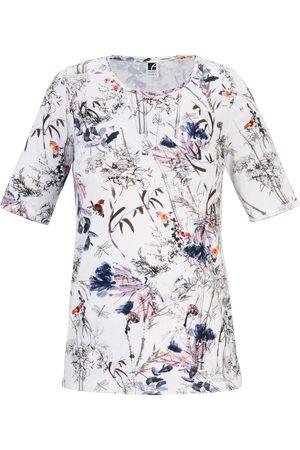 Anna Aura Round neck top short sleeves multicoloured size: 14