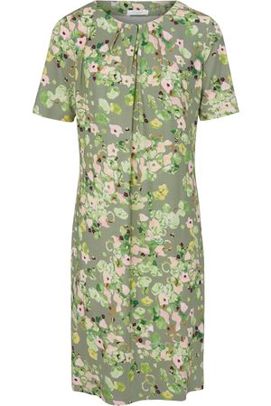 mayfair by Peter Hahn Short-sleeved jersey dress floral print multicoloured size: 10